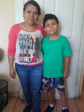 Lety and her son Juan Pablo