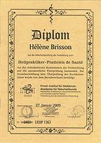 Diplome hélène Brisson technicienne de santé en psychonomie