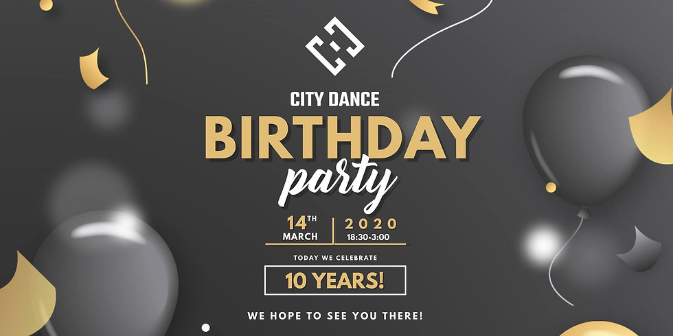 """""""City Dance"""" gimtadienio vakarėlis"""