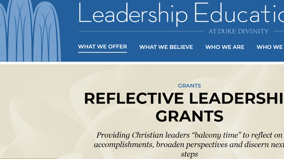 Duke Reflective Leadership Grant