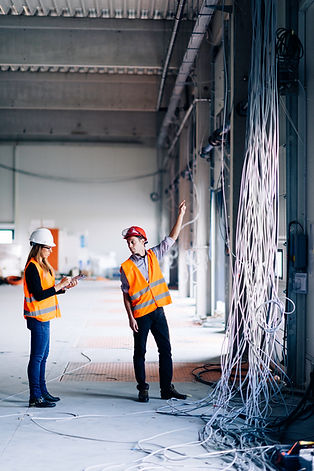 A commercial electrical contractor at work in Melbourne, FL