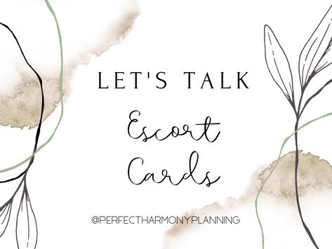 Let's Talk Escort Cards