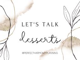 Let's Talk Dessert