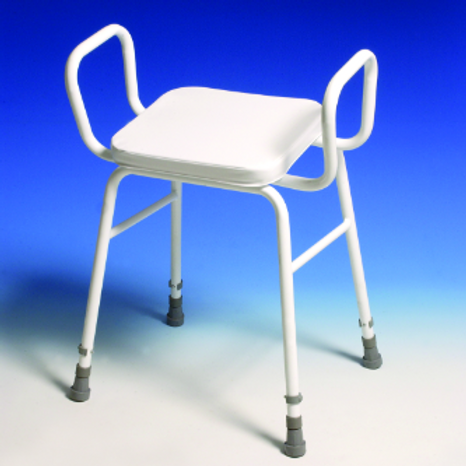 Perching Stool - adj height with arms VAT EXEMPT