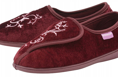 Ladies Slipper - Elena - Burgundy size 8