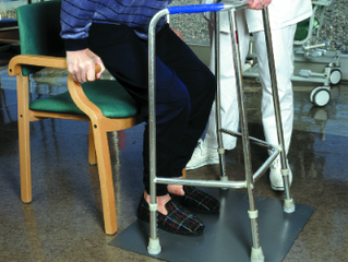 The risk of falling increases with dementia