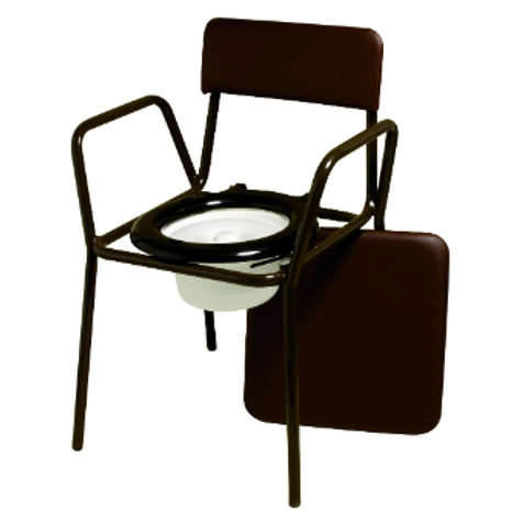 Compact Commode Chair - adjustable height VAT EXEMPT