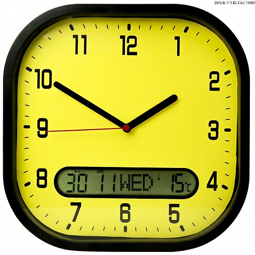 High Contrast Day-Date Wall Clock (VAT EXEMPT)