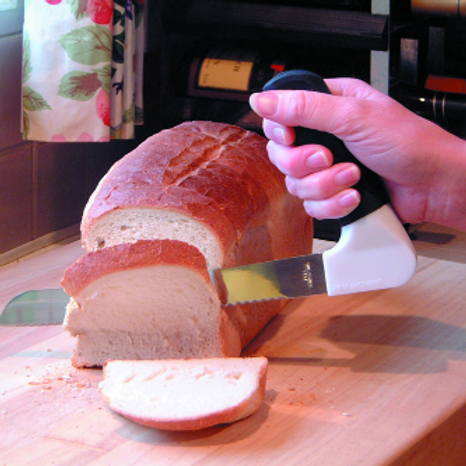 Bread Knife With Right Angle Handle VAT EXEMPT