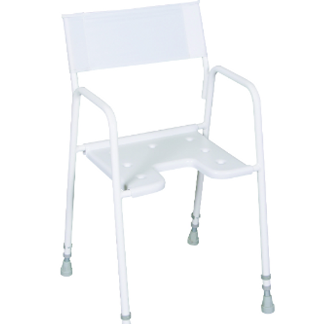 Adjustable Height Shower Chair - Nylon Back