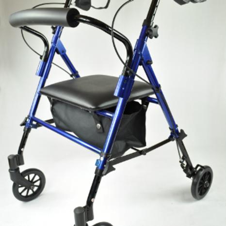 Compact Aluminium Rollator - Blue VAT EXEMPT