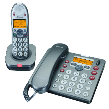 Big Button Cordless Phone - black