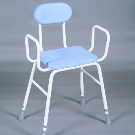 Perching Stool PU Seat - arms and back VAT EXEMPT
