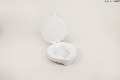 "Prima Raised Toilet Seat 50mm (2"") Deluxe with Lid VAT EXEMPT"