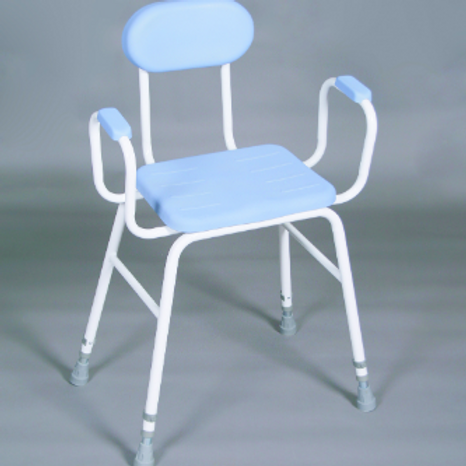 Perching Stool PU Seat - padded arms and padded back VAT EXEMPT
