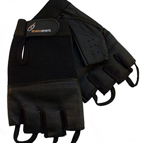 Revara Sports Leather Summer Glove Black - medium