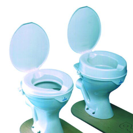 """Prima Raised Toilet Seat 50mm (2"""") Super No Lid - Multi Pack of 8 VAT EXEMPT"""