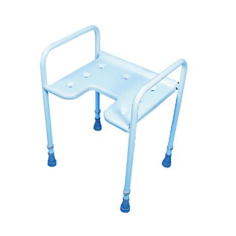 Adjustable Height Gap Front Shower Stool VAT EXEMPT