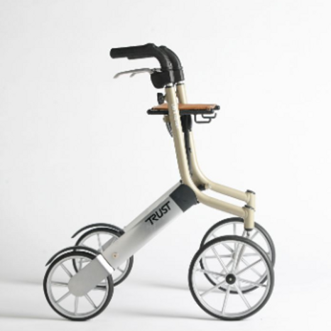 Lets Go Out Rollator - Beige/Siver VAT EXEMPT