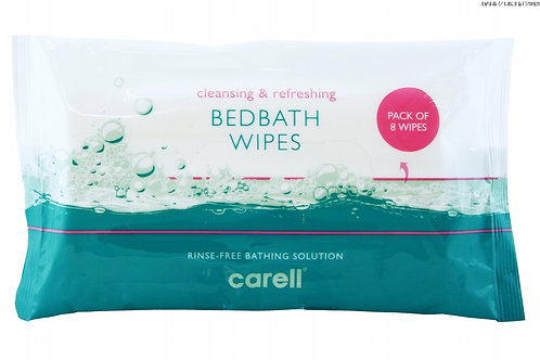 Carell Bed Bath Wipes - Pack of 8