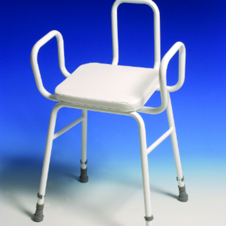 Perching Stool - adj height with arms and back VAT EXEMPT