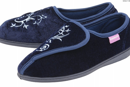 Ladies Slipper - Elena - Navy size 4