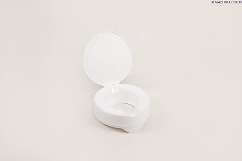 "Prima Raised Toilet Seat 100mm (4"") Deluxe with Lid VAT EXEMPT"