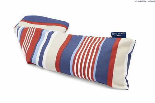Blue Badge Wheat Warmer - Steller Strip Blue/Red Cotton