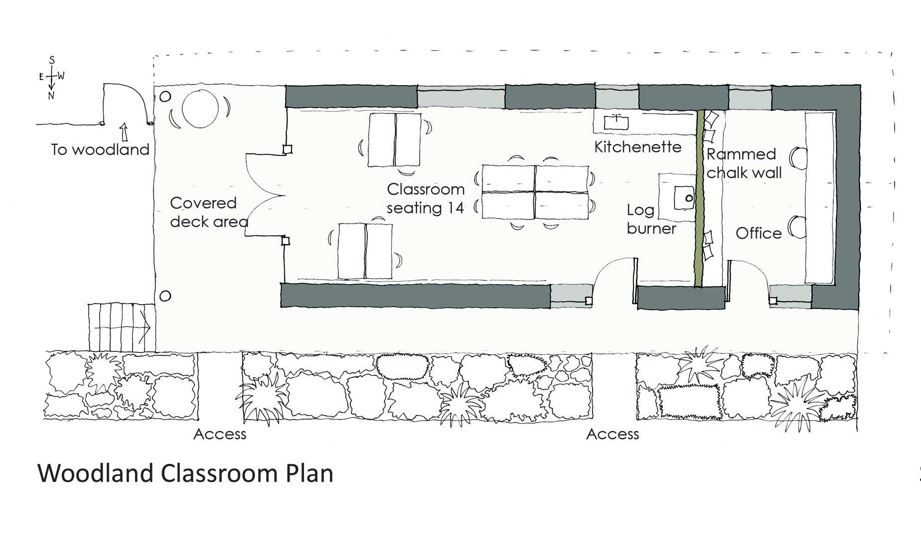 Woodland classroom plan