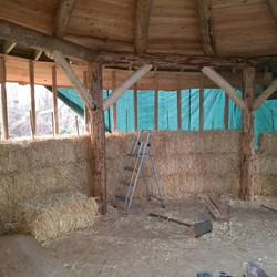 Building the straw bale walls