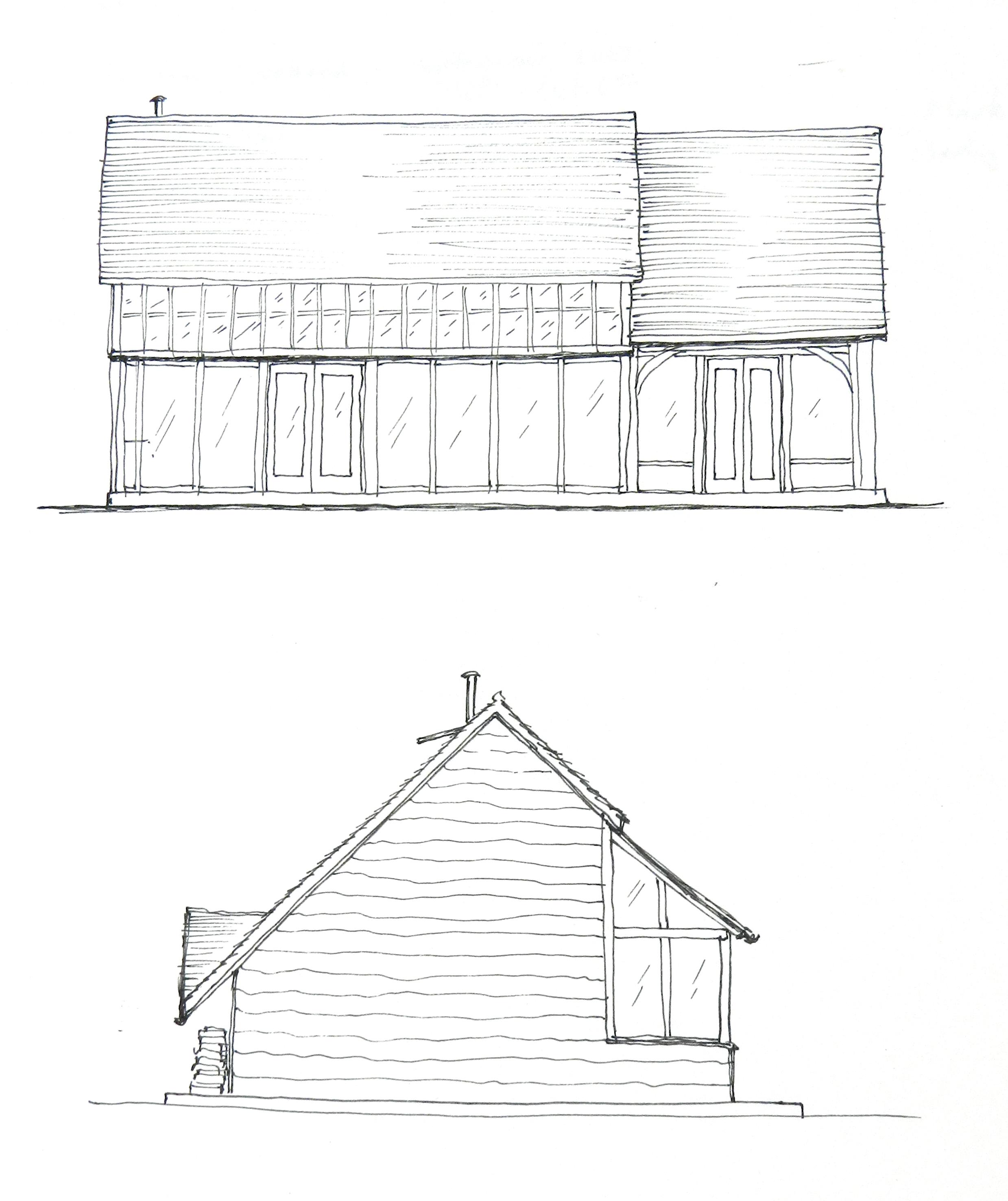 House Sketch Elevation