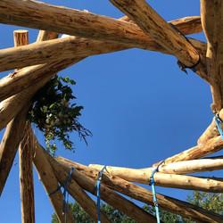 Roundwood reciprocal frame, Artizans of Wood