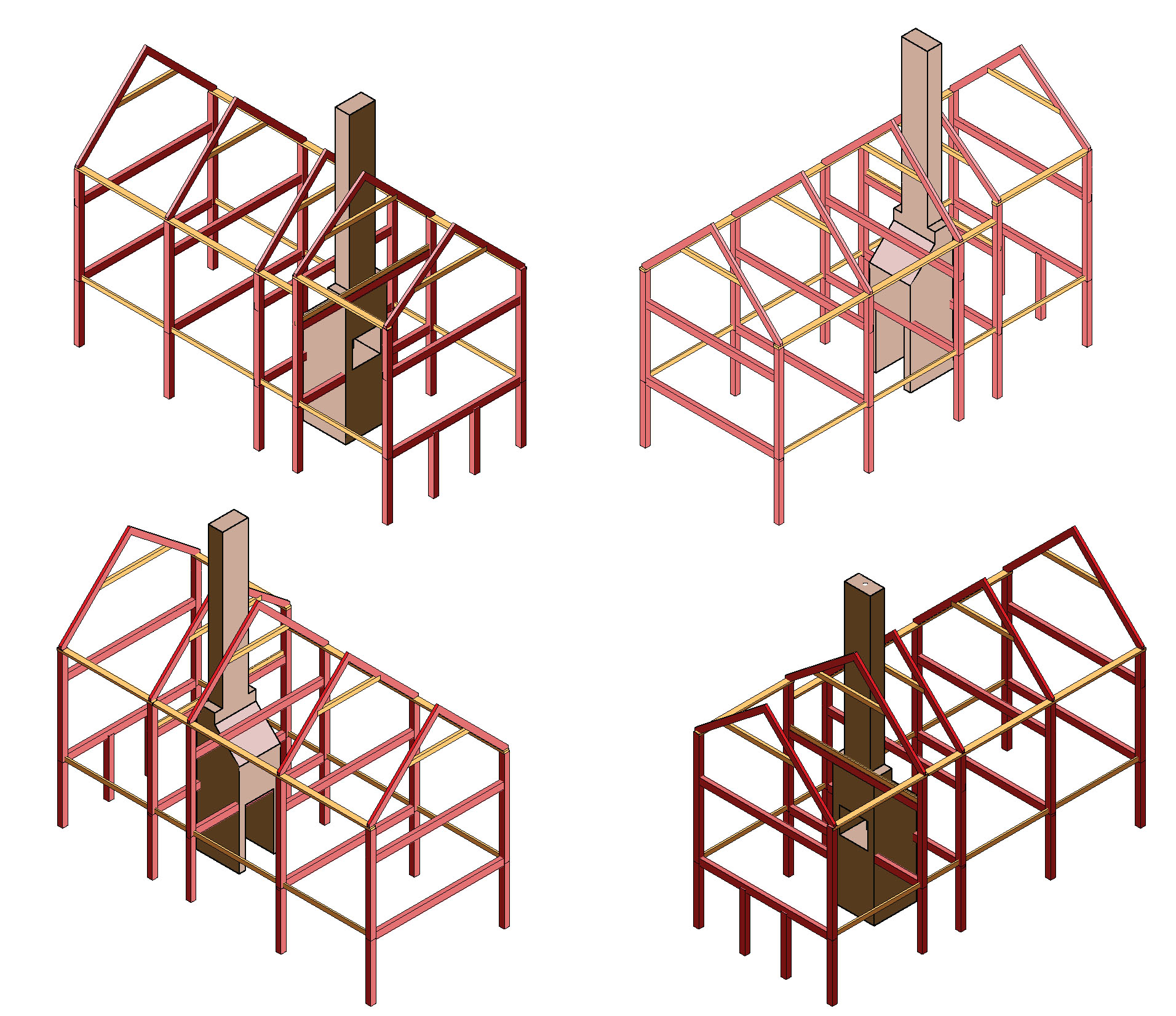 Working Timber Frame 3Ds
