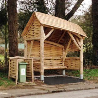 Local timber bus shelters