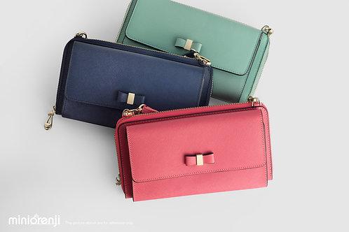 Korean Genuine Saffiano Leather Shoulder Bag HGB1004