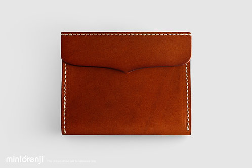 Genuine Tan Leather Wallet/ Card Holder HGW1002