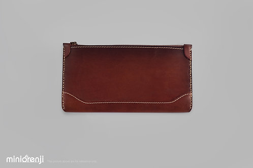 Vintage Genuine Leather Dip-dye Zip Wallet HGW1011