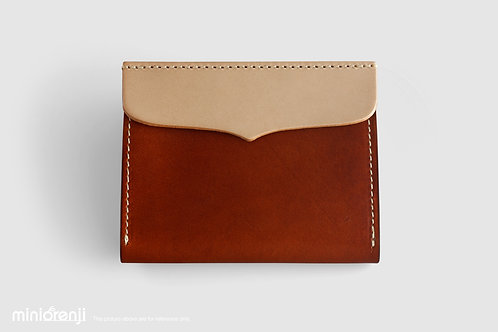 Genuine Tan Leather Wallet/ Card Holder HGW1003
