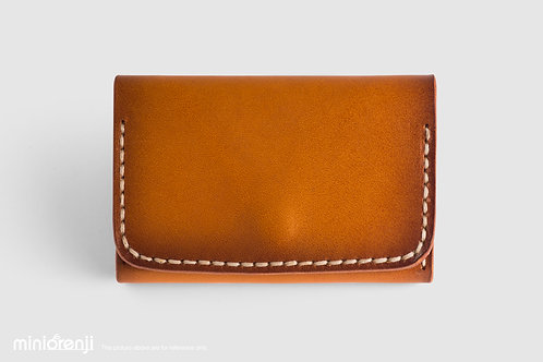 Handmade Vintage Genuine Tan Leather Card Holder HGC1001