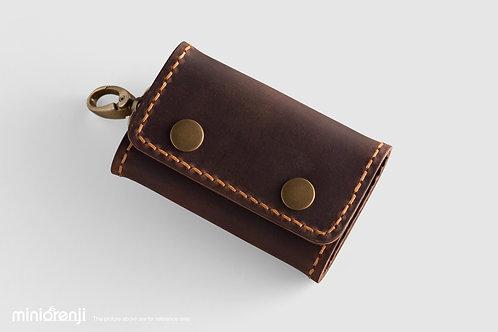 Vintage Leather Keychain / Card Holder HGK1002