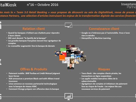DigitalKiosk n°16 - Newsletter Digital & Distribution Octobre 2016
