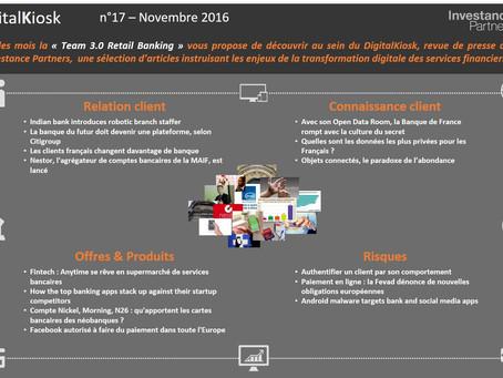 DigitalKiosk n°17 - Newsletter Digital & Distribution Novembre 2016