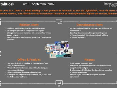 DigitalKiosk n°15 - Newsletter Digital & Distribution Septembre 2016