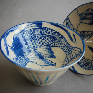 Stoneware 'Fish' bowls £65