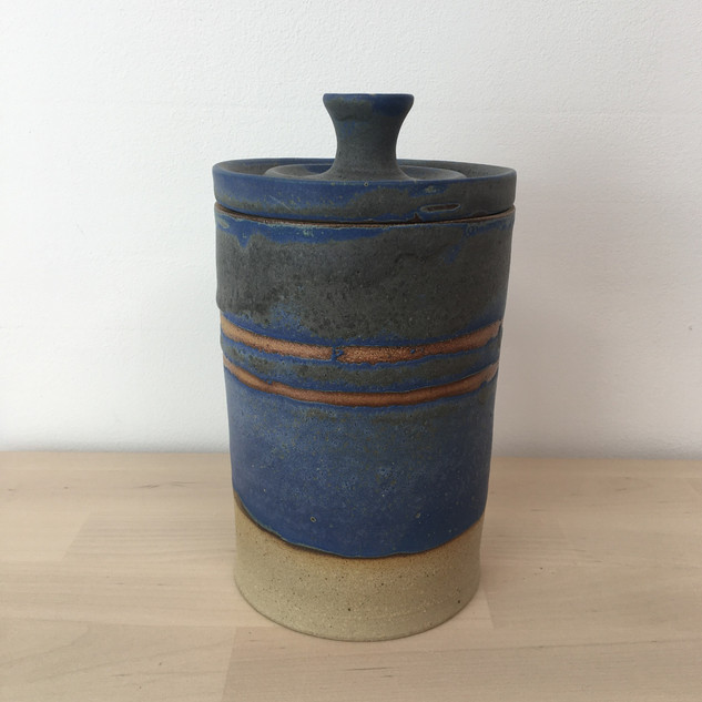 Stoneware lidded storage jar £55