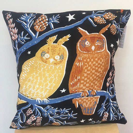 Owl cushion by Pigeon Loft