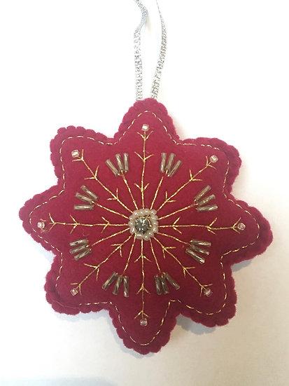Christmas flower, deep red