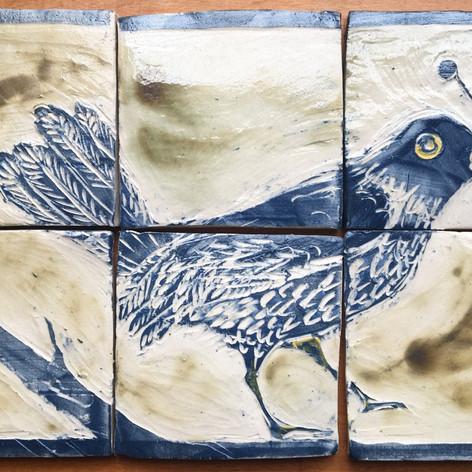 Bird tile panel