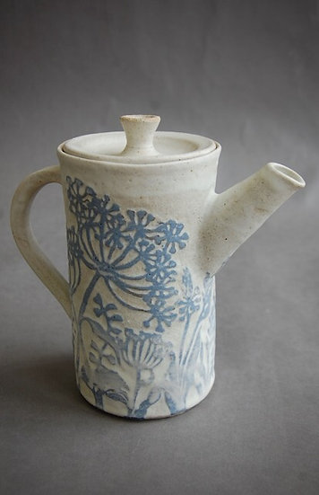 Stoneware coffee pot with filter by Jonquil Cook Ceramics