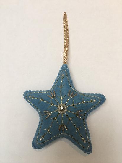 Christmas star, blue